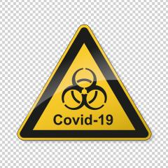 Coronavirus 2019-nCoV. Corona virus Pathogen respiratory infection attention sign. Safety signs, warning Sign, Danger BGV Pandemic medical concept for covid-19 on transparent background. Vector Eps10 : Stock Photo or Stock Video Download rcfotostock photos, images and assets rcfotostock | RC-Photo-Stock.: