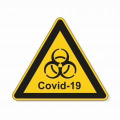 Coronavirus 2019-nCoV. Corona virus Pathogen respiratory infection attention sign. Safety signs, warning Sign, Danger symbol BGV Pandemic medical concept for covid-19 on white background. Vector Eps10 : Stock Photo or Stock Video Download rcfotostock photos, images and assets rcfotostock | RC-Photo-Stock.: