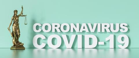 coronavirus covid-19 and Statue of Justice - law concept - Stock Photo or Stock Video of rcfotostock   RC-Photo-Stock