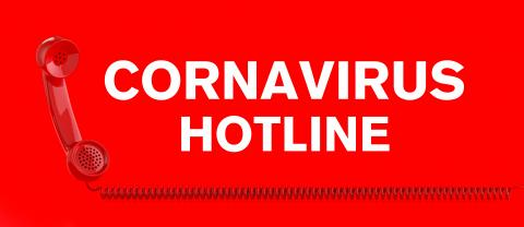Coronavirus hotline with Covid-19 Sars-CoV-2 virus and a red telephone- Stock Photo or Stock Video of rcfotostock | RC-Photo-Stock