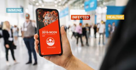 coronavirus tracking app on a mobile smartphone. Close up of woman tracking crowd of people in a smartphone screen application. Hand holding smart device. Mockup website. covid-19 corona virus tracker- Stock Photo or Stock Video of rcfotostock | RC-Photo-Stock