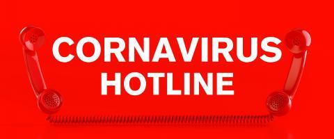 Covid-19 Sars-CoV-2 Coronavirus hotline with telephone- Stock Photo or Stock Video of rcfotostock   RC-Photo-Stock