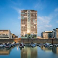 crane house at the Rheinauhafen : Stock Photo or Stock Video Download rcfotostock photos, images and assets rcfotostock | RC-Photo-Stock.: