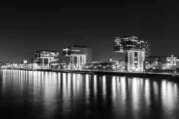 crane houses at night in black and white : Stock Photo or Stock Video Download rcfotostock photos, images and assets rcfotostock | RC-Photo-Stock.: