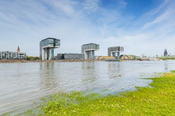 crane houses in cologne at the rhine shore : Stock Photo or Stock Video Download rcfotostock photos, images and assets rcfotostock | RC-Photo-Stock.: