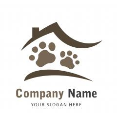 Creative Pet Care Home Concept Logo Design Template - Stock Photo or Stock Video of rcfotostock | RC-Photo-Stock