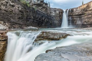 Crescent Falls at the Hiking Trail alberta canada  : Stock Photo or Stock Video Download rcfotostock photos, images and assets rcfotostock | RC-Photo-Stock.: