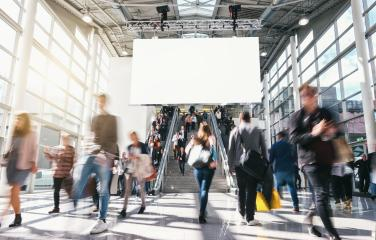 crowd of anonymous blurred business people at a trade fair- Stock Photo or Stock Video of rcfotostock | RC-Photo-Stock
