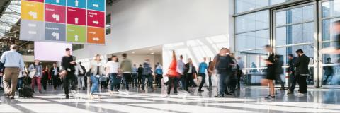 crowd of anonymous blurred business people at a trade fair - Stock Photo or Stock Video of rcfotostock | RC-Photo-Stock