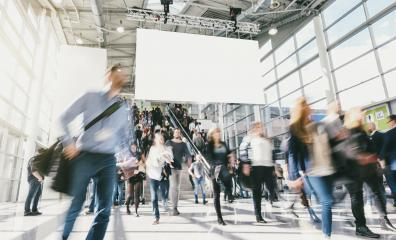 crowd of anonymous blurred business people at a tradeshow- Stock Photo or Stock Video of rcfotostock | RC-Photo-Stock