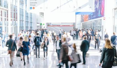 crowd of anonymous blurred people at a trade fair- Stock Photo or Stock Video of rcfotostock | RC-Photo-Stock