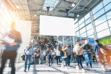 crowd of anonymous blurred people on a airport- Stock Photo or Stock Video of rcfotostock | RC-Photo-Stock