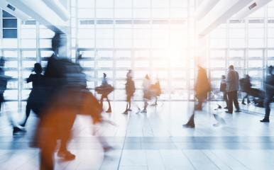 crowd of anonymous Blurred people walking in a modern environment- Stock Photo or Stock Video of rcfotostock | RC-Photo-Stock