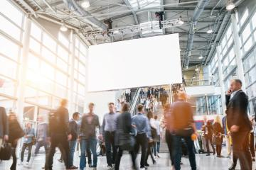 crowd of anonymous business people at a trade fair - Stock Photo or Stock Video of rcfotostock | RC-Photo-Stock