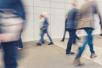 crowd of anonymous business people walking in a corridor- Stock Photo or Stock Video of rcfotostock   RC-Photo-Stock