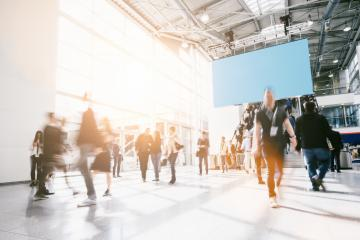 crowd of anonymous people at a trade show- Stock Photo or Stock Video of rcfotostock | RC-Photo-Stock