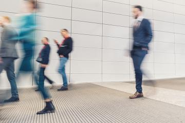 crowd of anonymous people walking in a corridor- Stock Photo or Stock Video of rcfotostock   RC-Photo-Stock