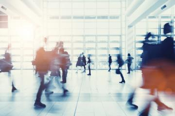 crowd of anonymous people walking in a modern environment- Stock Photo or Stock Video of rcfotostock | RC-Photo-Stock