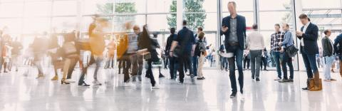 Crowd of anonymous people walking on a business center : Stock Photo or Stock Video Download rcfotostock photos, images and assets rcfotostock | RC-Photo-Stock.:
