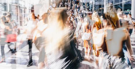 Crowd of anonymous people walking on busy city street- Stock Photo or Stock Video of rcfotostock | RC-Photo-Stock