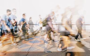 Crowd of anonymous people walking on sunset in the streets- Stock Photo or Stock Video of rcfotostock | RC-Photo-Stock