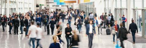 crowd of Blurred business people at a expo- Stock Photo or Stock Video of rcfotostock | RC-Photo-Stock