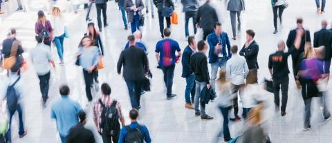 crowd of Blurred business people at a trade fair- Stock Photo or Stock Video of rcfotostock | RC-Photo-Stock