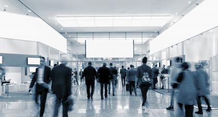 crowd of blurred business people at a trade fair, copy space for individual text - Stock Photo or Stock Video of rcfotostock | RC-Photo-Stock