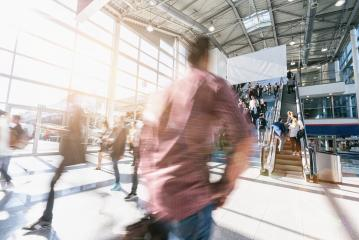 crowd of blurred business people at a trade show- Stock Photo or Stock Video of rcfotostock | RC-Photo-Stock