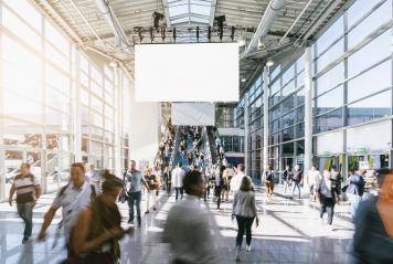 crowd of blurred business people, with copy space banner- Stock Photo or Stock Video of rcfotostock | RC-Photo-Stock