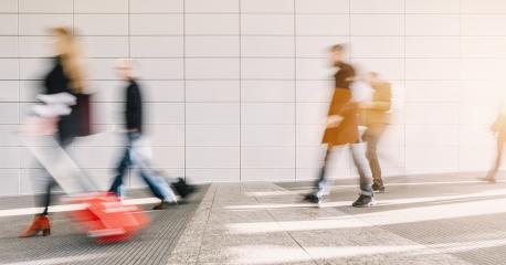 crowd of blurred commuters - Stock Photo or Stock Video of rcfotostock | RC-Photo-Stock