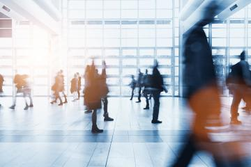 crowd of Blurred people rushing at a business center- Stock Photo or Stock Video of rcfotostock | RC-Photo-Stock