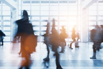 crowd of Blurred people walking in a airport- Stock Photo or Stock Video of rcfotostock | RC-Photo-Stock