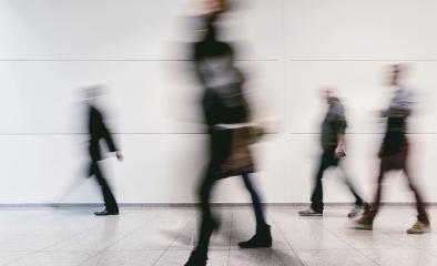 crowd of blurred people walking in a corridor- Stock Photo or Stock Video of rcfotostock | RC-Photo-Stock