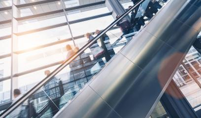 crowd of business people at a escalator- Stock Photo or Stock Video of rcfotostock | RC-Photo-Stock