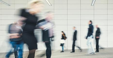 crowd of business people rushing at a entrance- Stock Photo or Stock Video of rcfotostock | RC-Photo-Stock