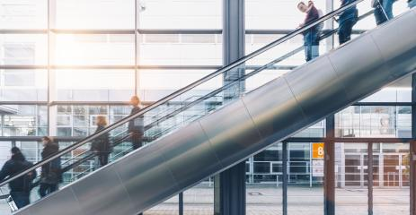 crowd of business people rushing at a escalator- Stock Photo or Stock Video of rcfotostock | RC-Photo-Stock