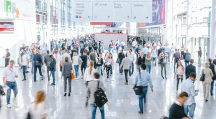 Crowd of people at a trade show- Stock Photo or Stock Video of rcfotostock | RC-Photo-Stock