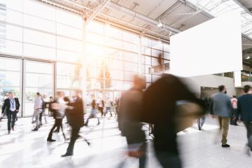 crowd of people at a trade show. copyspace for your individual text.- Stock Photo or Stock Video of rcfotostock | RC-Photo-Stock