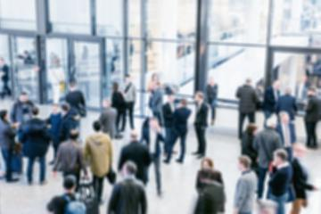 crowd of people at a trade show, Intentionally blurred background- Stock Photo or Stock Video of rcfotostock | RC-Photo-Stock