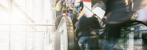 crowd of people rushing on a escalator in a shopping center- Stock Photo or Stock Video of rcfotostock | RC-Photo-Stock
