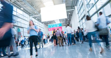 crowd of people walking a a trade show- Stock Photo or Stock Video of rcfotostock | RC-Photo-Stock