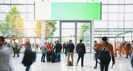 Crowd of people walking at a airport in london, with banner and copy space for individual text- Stock Photo or Stock Video of rcfotostock | RC-Photo-Stock