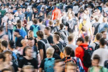 Crowd of people walking in a hall- Stock Photo or Stock Video of rcfotostock | RC-Photo-Stock
