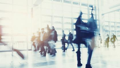 Crowd of people walking in a modern environment- Stock Photo or Stock Video of rcfotostock | RC-Photo-Stock