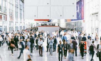 Crowd of people walking on a trade show in london- Stock Photo or Stock Video of rcfotostock | RC-Photo-Stock