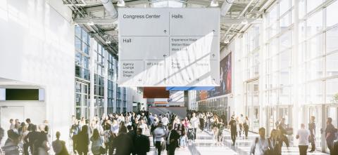 crowd of trade fair visitors walking in a clean futuristic corridor : Stock Photo or Stock Video Download rcfotostock photos, images and assets rcfotostock   RC-Photo-Stock.: