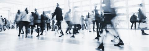 crowds of people in motion blur crossing in a floor- Stock Photo or Stock Video of rcfotostock | RC-Photo-Stock
