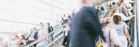 crowds of people in motion blur on a trade fair- Stock Photo or Stock Video of rcfotostock | RC-Photo-Stock