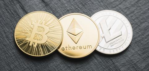 cryptocurrency coins - Bitcoin - Cash, Ethereum, Litecoin : Stock Photo or Stock Video Download rcfotostock photos, images and assets rcfotostock | RC-Photo-Stock.:
